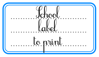 School label